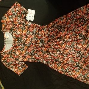 Lularoe patterned amelia dress size small